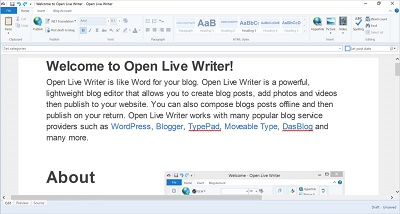 Características de Windows Live Writer