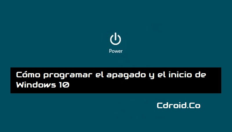 Programar el apagado de Windows 10