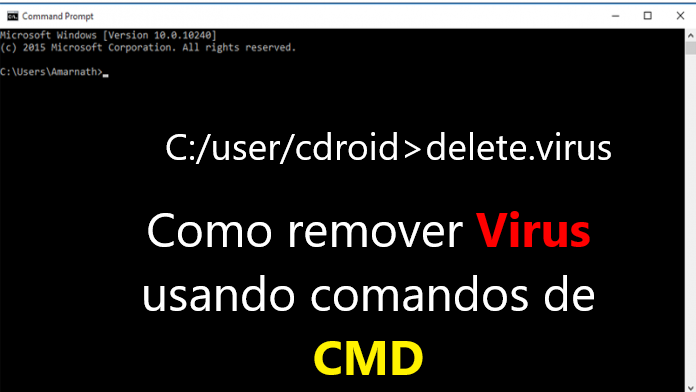 Como eliminar virus de PC  Usando CMD