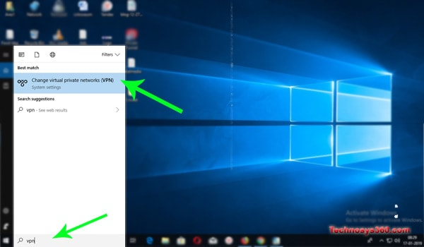 configurar vpn windows